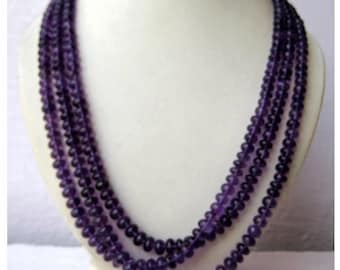 AAAgems, Amethyst Rondelles  - 5mm To 8.5mm Beads - 3 Strands - 16 Inches, 17 Inches, 18 Inches Respectively