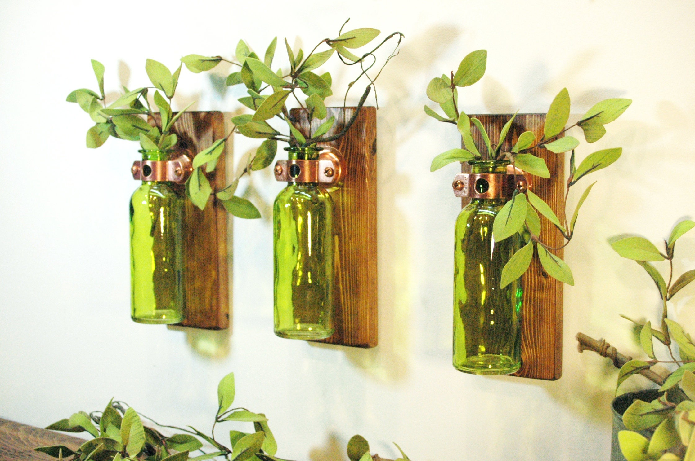 Colored bottle wall decor Wall decor Bedroom decor