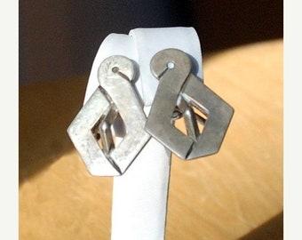 30% OFF SALE Vintage Taxco JJ Sterling Silver Earrings
