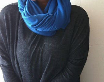 Women's Convertible Scarf - Infinity Scarf- Loop Scarf- Royal Blue