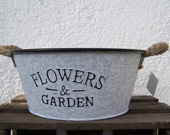 Zinkwanne Planting vessel Dekowanne Flowers & Garden