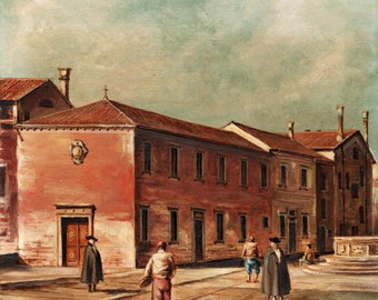 Oil on canvas author's Studio on Canaletto