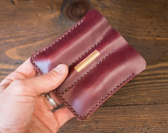 """EDC-3, every day carry pocket knife/pen/light case, for knives up to 3.75"""" closed - burgundy"""