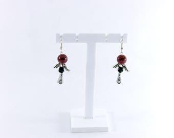 Twin fantasy fairy earrings