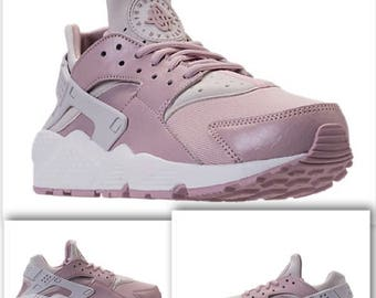 Light Pink Swarovski Nike Air Huarache Running Shoes! Bling Nike Shoes -  Bling