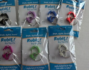 Tag changer, Dog tag clip, pet tag clip, Rubit Large