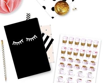 Hot Coffee Planner Stickers