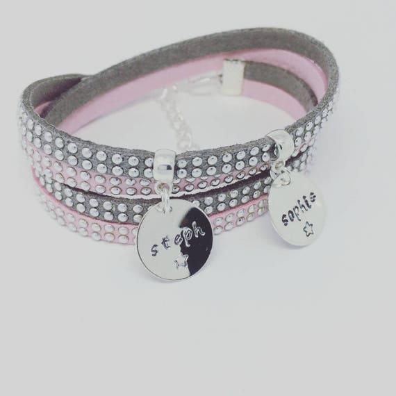Personalized Bracelet Spark by Palilo jewelry - 2 prints