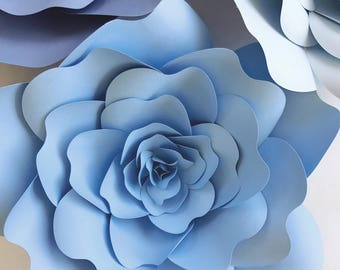 Paper Flower Templates include video Instructions, DIY paper flowers for weddings, showers photo backdrops or home decor, Instant Download