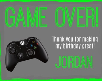 Video Game XBox thank you card Print at home