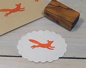 Running Fox Olive Wood Stamp
