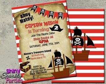 PIRATE PARTY INVITATION - Pirate Birthday Invitation - Pirate Birthday Party Invitation - Pirate Invite - Pirate Invitations - boy pirate