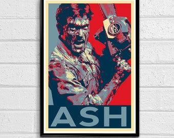 Ash Evil Dead Army of Darkness Bruce Campbell Pop Art Poster 2 Print Canvas