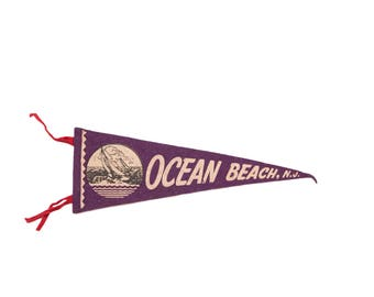 Ocean Beach NJ Felt Flag