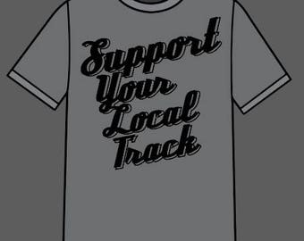 Support Local Track Graphic Tee