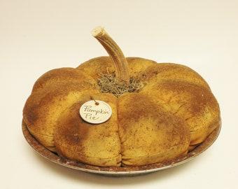 Primitive Pumpkin Pie, Fake Pies, Fake Food Props, Fall Decor, Thanksgiving Decor, Table Decor, Kitchen Decor, Country Farmhouse Accents
