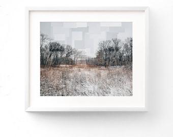 Winter Landscape Fine Art Photography / Modern Home Decor / Nature Wall Art