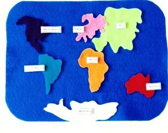 Kids Felt Continent Set