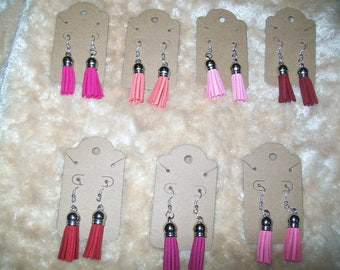 Sassy Tassels Earrings - Pinks n Reds