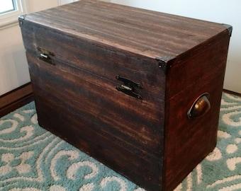 Beautiful Reclaimed Wood Storage Box/Crate