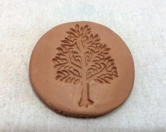 Handmade terracotta sugar keeper/ essential oil diffuser- tree stamp, white gift bag- pottery sugar saver, aromatherapy, valentine's day