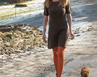 Knitted  dress raglan, worked top down