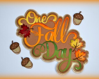 One Fall Day CraftECafe Paper Piecing for Premade Scrapbook Page Layout