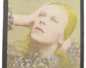 Vintage 70s David Bowie Hunky Dory Glam Rock Album Record Vinyl LP
