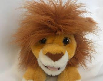 Lion King Vintage Roaring Simba Puppet Plush 1993