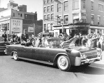 John F. Kennedy , Downtown Newark on Oct. 12, 1962.