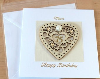 75th birthday card etsy 75th birthday card 75th birthday gift 75th birthday card mum mam mom bookmarktalkfo Choice Image