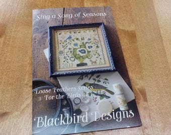 Sing a Song of Seasons, Loose Feathers Series For the Birds #5, by Blackbird Designs...cross-stitch design