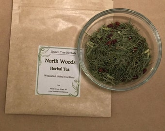 North Woods Tea // Wildcrafted, Hand-blended Herbal Tisane with White Pine