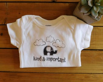 Baby gift under 20 etsy kind and important onesie kin smart baby geek baby nerd parents negle Image collections