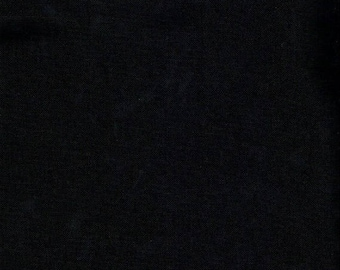 Plain black 100% cotton fabric