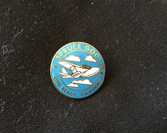 Spruce goose flying boat  Badge Button.