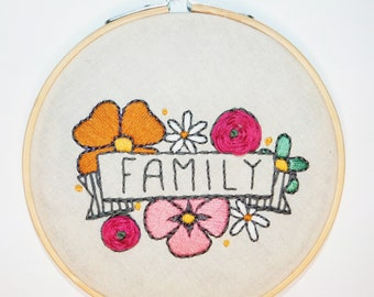 """Family 5"""" Embroidery Hoop"""
