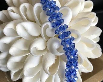 Blue Crystal Box Bracelet