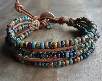 Boheemse armband boho chic armband hippie armband Boheemse womens sieraden rustieke armband westerse armband zigeuner cadeau voor haar