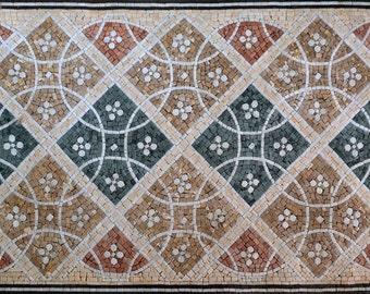 Geometric Floor Mosaic - Amelie IV