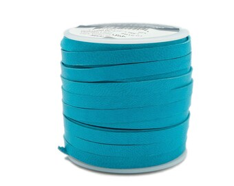 Dark Turquoise Deerskin Lacing - (1) 50 foot spool, 3/16th inch lace.  Deerskin lace. (297-316x50DT)
