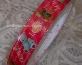 Deco Tape Kawaii Teddy Bear Love 15m