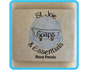 Rose Petals Soap, Handmade Soap, All Natural Soap, Organic Saponified Olive Oil, Coconut Oil, Shea Butter, Fragrance Oil