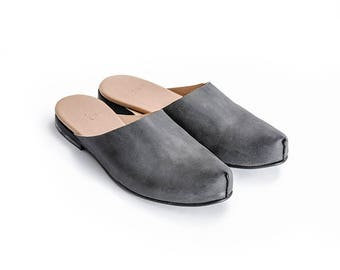 Vegan shoes, Open back vegan shoes, Slip-on, Crafted vegan shoes, Designers flat shoes, Comfortable shoes, Handmade Vegan flat, Una Una