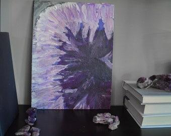 Amethyst Geode Painting