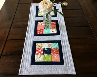 Quilted Table Runner, Floral Table Runner, Spring Table Runner, Summer Table Runner, Table Decor