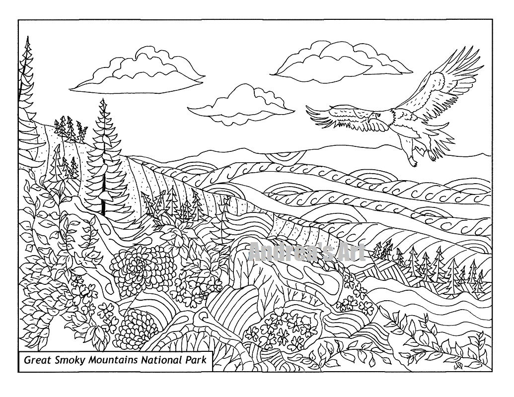 Great Smoky Mountains National Park coloring page animals ...