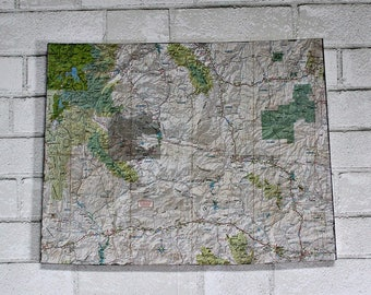 WYOMING State Map Wall Decor | Vintage Map | Wall Hangings | Perfect Gift for Any Occasion | Medium Size