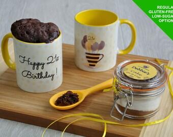 21st birthday gift, happy 21st birthday, 21st birthday cake, 21 today, 21st cake, microwave cake, 21st birthday mug, baking gift for girl