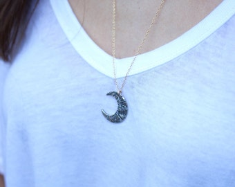 Medium Crescent Moon Necklace